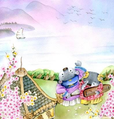 儿童春节插画手绘